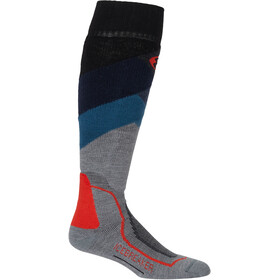 Icebreaker OTC Medium Ski Socks Men Glades/Twister Heather/Fathom Heather/Chili Red